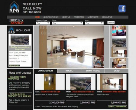 Website Design: Buy Chiang Mai Property
