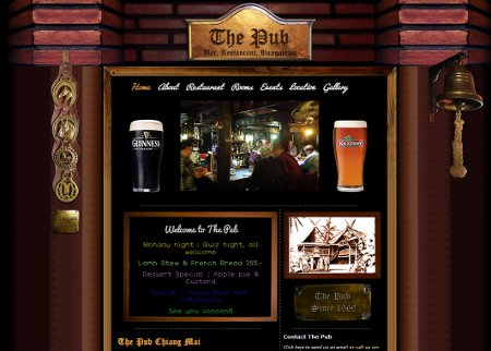 Website Design: The Pub Chiang Mai