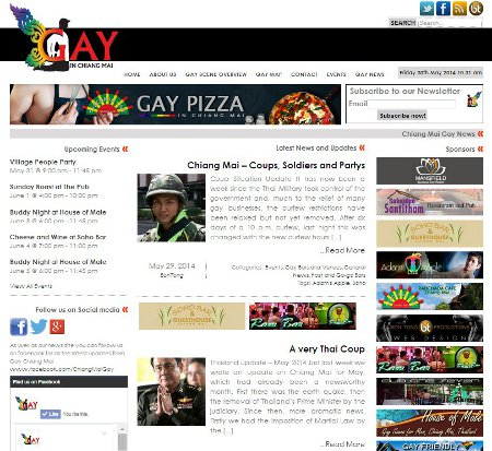 Website design screenshot - Your Gay Website