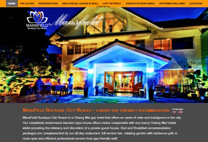 Website for Chiang Mai Gay Hotel - Mansfield Residence