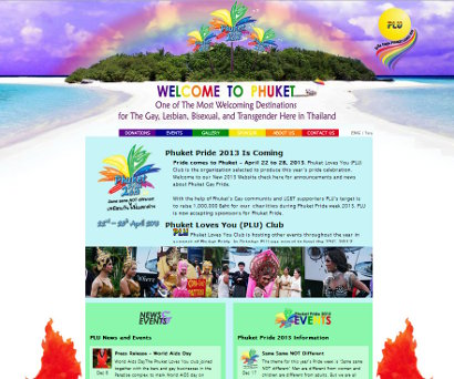 Website for Phuket Gay Pride