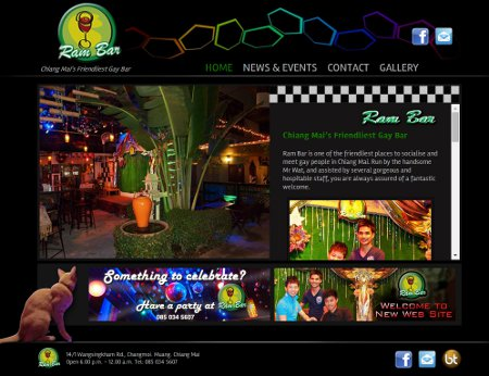 Gay Website Design:  Ram Bar Chiang Mai